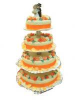 Menyasszonyi torta - narancs