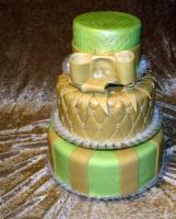 3 emeletes pasztell zöld-beige
