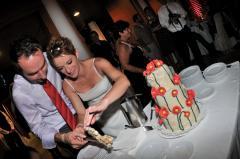 Pipacsos esküvői torta