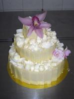 Orchideás esküvői torta (Auguszt)