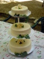 Elegáns, borostyános torta